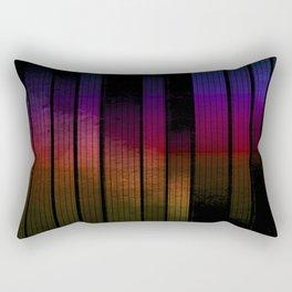 between lines and metal Rectangular Pillow