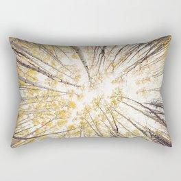 fall looking up Rectangular Pillow