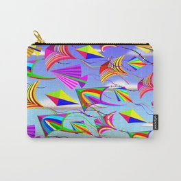 Kites Rainbow Colors in the Wind Carry-All Pouch