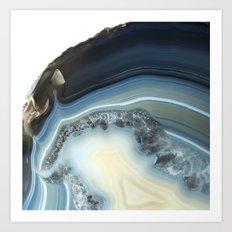 Blue Agate Geode Art Print