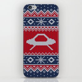 Ugly Saucer Christmas Sweater iPhone Skin