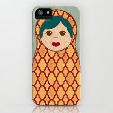Red and Yellow Matryoshka Nesting Dolls Slim Case iPhone (5, 5s)