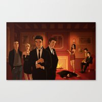 glee Canvas Prints featuring Glee Clue AU by rocketssurgery