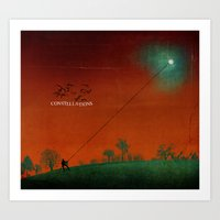 constellations Art Prints featuring Constellations by Meliza Celeridad