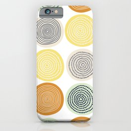 Circle Tangerine iPhone Case