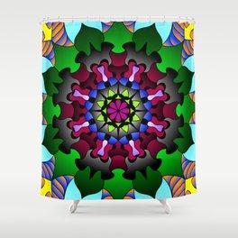 Floral doodle mandala Shower Curtain