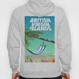 British Virgin Islands beach poster. Hoody