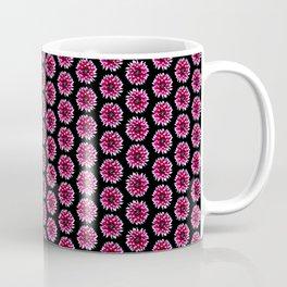 Dahlias Pattern  in Pink, Red Coffee Mug