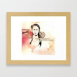 Miss Caltex Framed Art Print