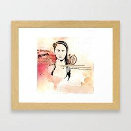 Miss Caltex Framed Art Print