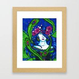 Peacock Fairy Framed Art Print