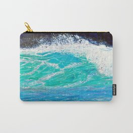 Blue green Carry-All Pouch