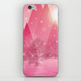 Magic winter pink iPhone Skin