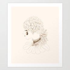 The Teardrop of a Hydrangea Art Print