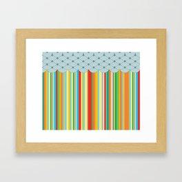 the stripes Framed Art Print