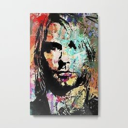 Kurt Art Portrait Metal Print