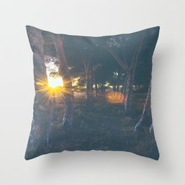 Cold Forest Throw Pillow