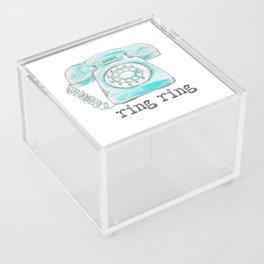 Vintage hone Ring Ring Acrylic Box