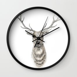 Proud Stag - Reindeer - Deer Wall Clock