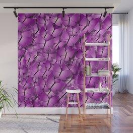 pink magenta butterflies Wall Mural