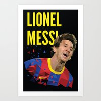 messi Art Prints featuring Messi  by Abhikreationz