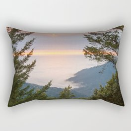 Sunset at the King Range Rectangular Pillow