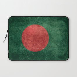 Flag of Bangladesh, Vintage Retro style Laptop Sleeve