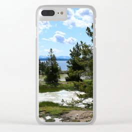 West Thumb Yellowstone Lake Clear iPhone Case