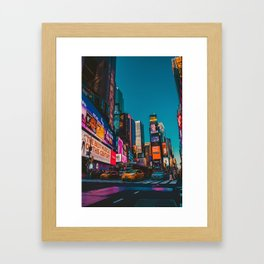 City Lights NYC (Color) Framed Art Print