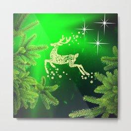 Christmas reindeer happy decoration Metal Print
