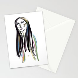 Reflection and introspection Stationery Cards