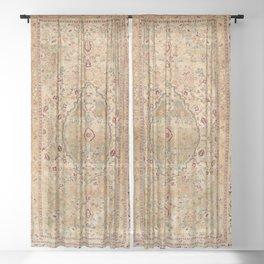 Silk Tabriz Azerbaijan Northwest Persian Rug Print Sheer Curtain