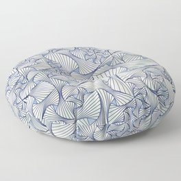 Reverie (in Ivory and Blue) Floor Pillow