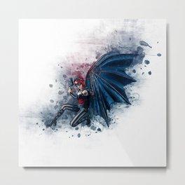 Steampunk Fairy Angel Metal Print