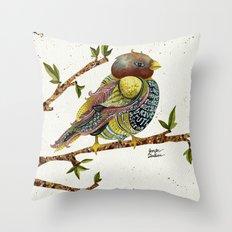 Positivity Bird 2  Throw Pillow