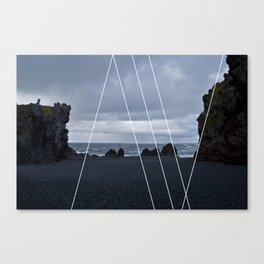 ICELAND / Spiaggia nera Canvas Print