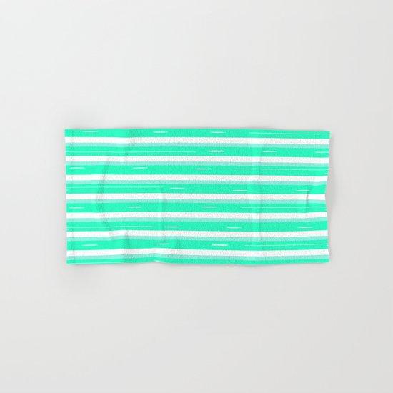Mint stripes Hand & Bath Towel