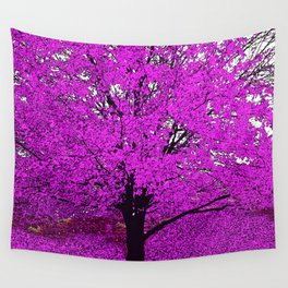 TREES PINK ABSTRACT Wall Tapestry