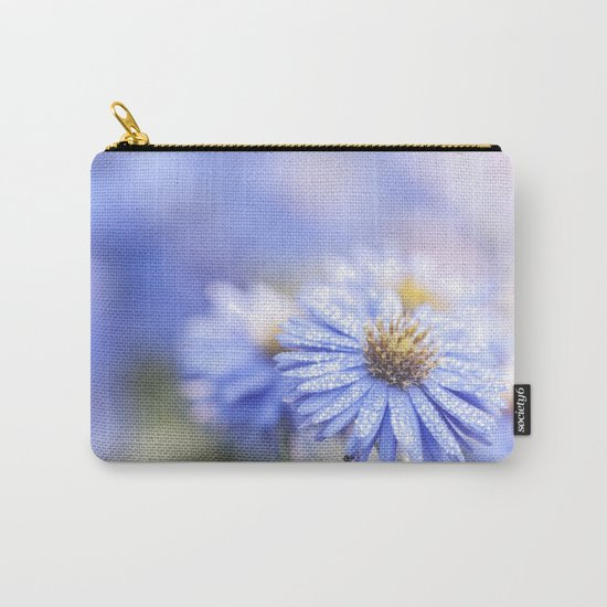 Blue Aster in LOVE - Flowers Flower Floral Carry-All Pouch
