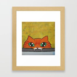 Eat your schleppi Framed Art Print