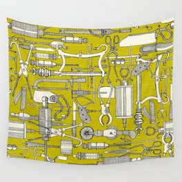 fiendish incisions chartreuse Wall Tapestry