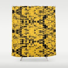 Black and Gold Circuit Board 2616 Shower Curtain