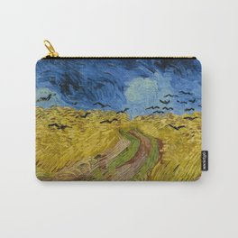 Wheat Field with Crows, Vincent Van Gogh Carry-All Pouch