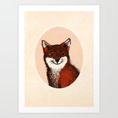 Feeling Foxy Woodland Animal Illustration Art Print