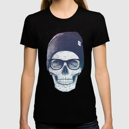 Color skull in a hat T-shirt