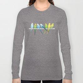 Row of Budgies Long Sleeve T-shirt