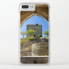 Ourem, castle window, Portugal Clear iPhone Case