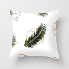 Palm + Geometry V2 #society6 #decor #buyart Throw Pillow