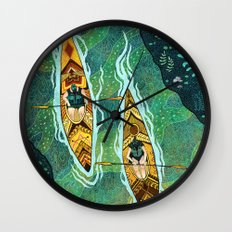 Kayaking Wall Clock