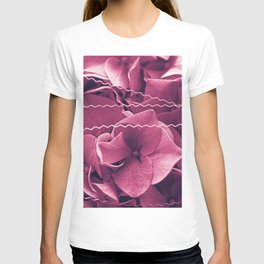 A Sea of Purple Pink Hydrangea Blossoms #1 #floral #art #society6 T-shirt